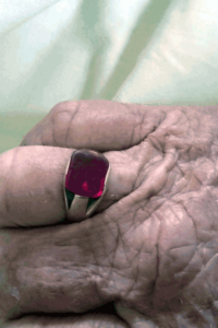 My Grandmother's Red Ruby Ring